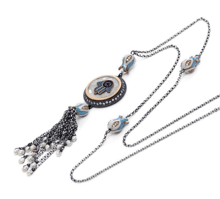 80 best Hamsa Necklace images on Pinterest Hamsa necklace Evil