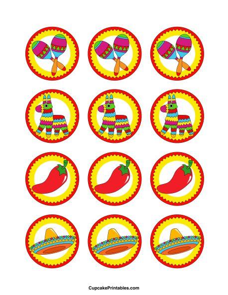 Cinco de Mayo Cupcake Toppers