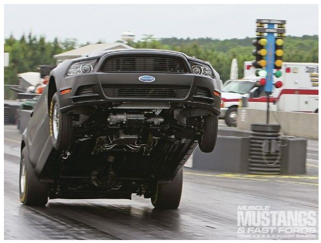Drivin' the 2014 Ford Mustang Cobra Jet - Power Shiftin': It's a Wheelie Machine!