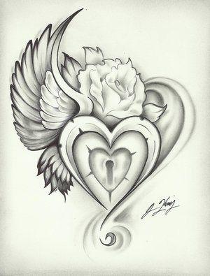 Winged Heart Lock