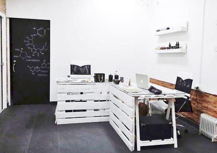 ¿Imaginas una oficina decorada con muebles de palet?