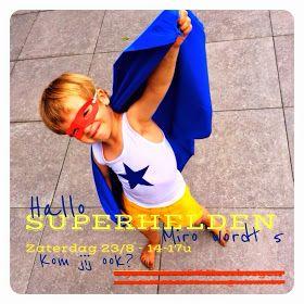 Superhelden uitnodiging