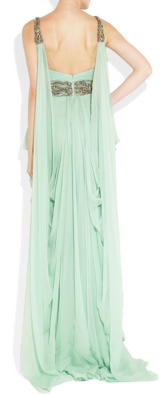Mint Grecian Gown. Has a goddess look to it. I NEED THIS GOWN