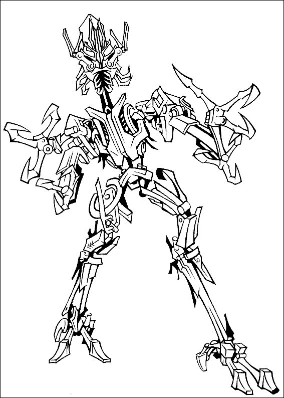 transformers diot beast mode coloring page revenge of the fallen - Rescue Bots Coloring Book