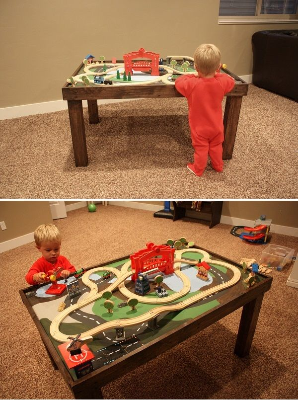 Im going to do a DIY train table from a card table.