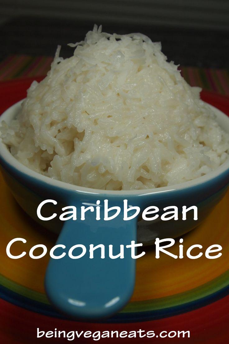 Caribbean Coconut Rice via Being Vegan Eats