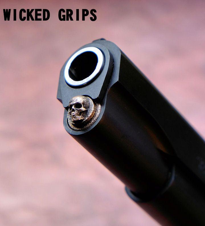 1911 SKULL SPRING PLUG... 3D SERIES - Wicked Grips
