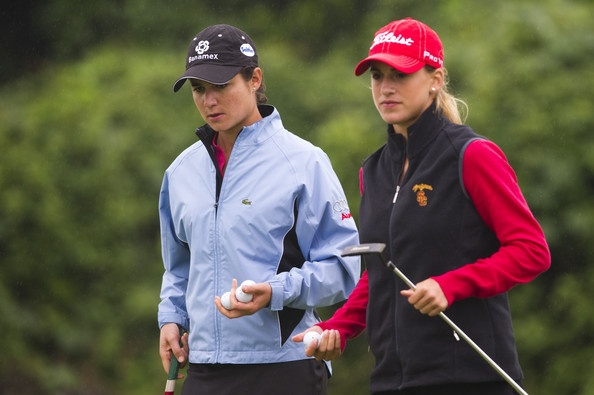 Female Golfers Belen Mozo and Lorena Ochoa