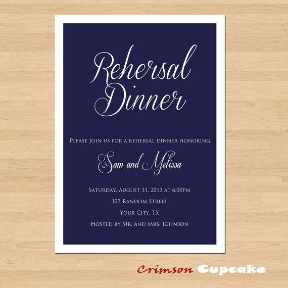 Printable Rehersal Dinner Invitations DIY Wedding