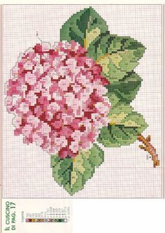 Hortensia rosa   Gallery.ru / Фото #3 - Подушка-гортензия - Egira