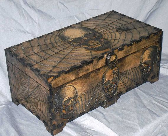 Lord Mock's Skull and Web Box by LordMockDesigns on Etsy