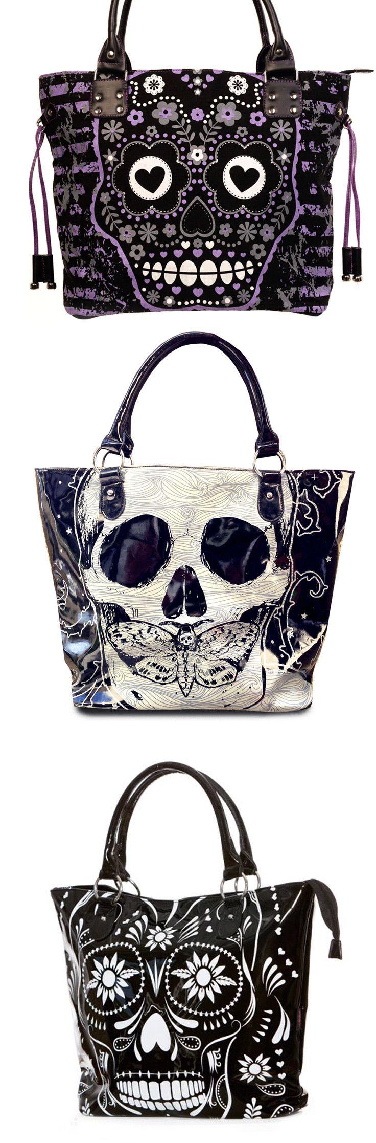 Shop goth sugar skull handbags at RebelsMarket.