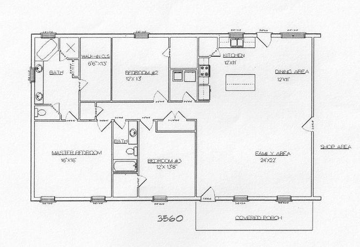 Best 25+ Barndominium Floor Plans Ideas On Pinterest