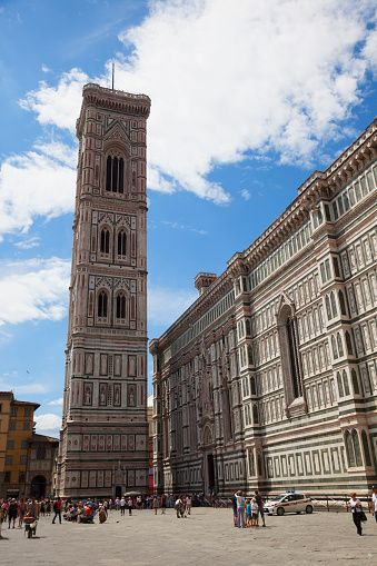 View of Florence Cathedral in Piazza del Duomo