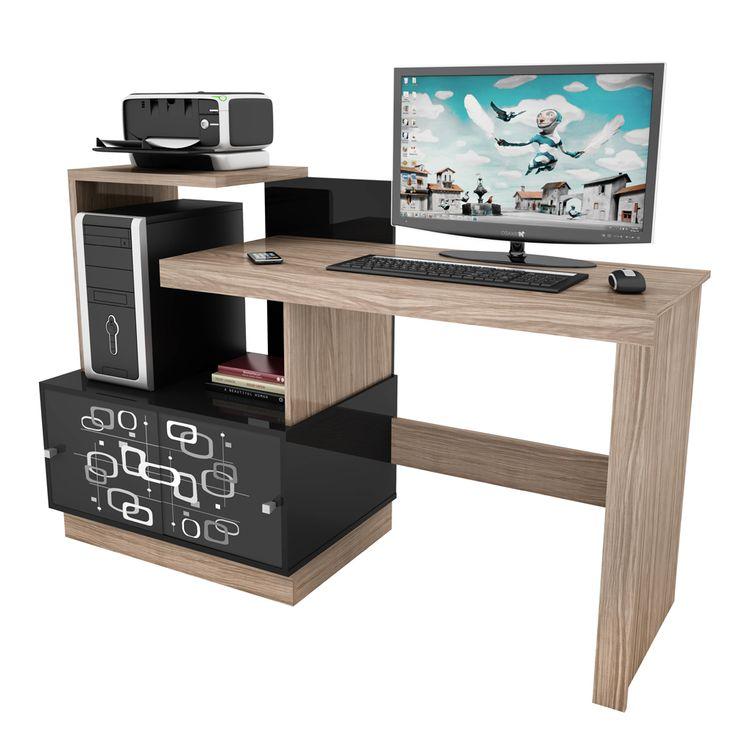 Mesa para Computador Vamol Link - Dorale/Preto - Mesas para Computador e Escrivaninhas no CasasBahia.com.br