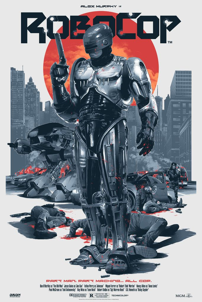 "Here are some detailed shots for our next upcoming release, ""Robocop"" by Grzegorz Domaradzki (Gabz). We really are thrilled with this poster and what Gabz has c"