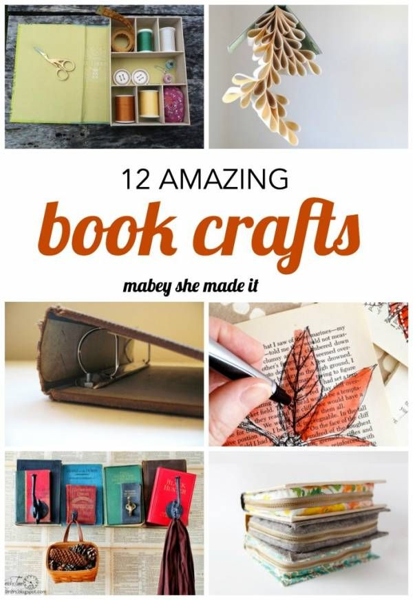 12 Crafts You Can Make With an Old Book