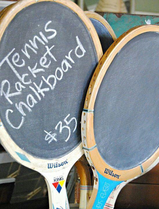 Tennis racket chalkboard                                                       …
