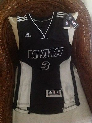 Dwyane Wade #3 Adidas NBA miami heat jersey New With Tag Size S Lenght+2 Mens