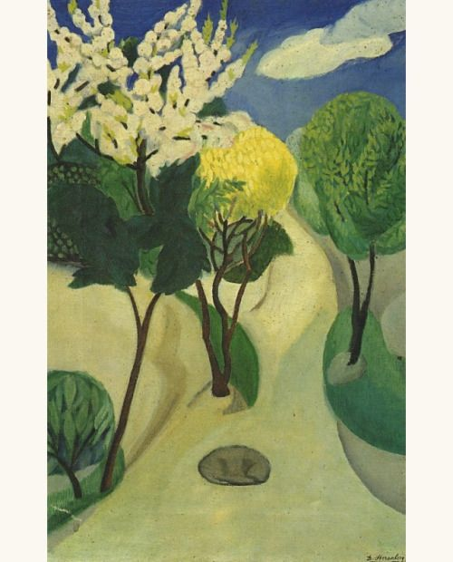 'Trees in Bloom', 1914 - David Petrovich Shterenberg (1881–1948