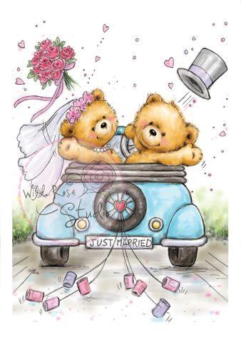 Just Married via wildrosestudio.co.uk