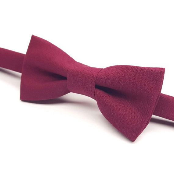 Men's Burgundy Bow tie,  Maroon Bow tie, Wine Bow tie, Fall Wedding Bow tie by FlyTiesforFlyGuys