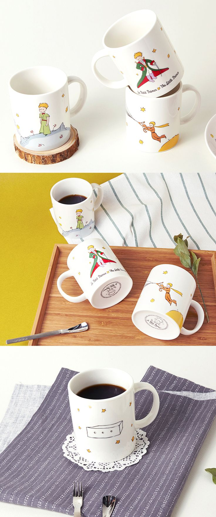 The classic French Novella, The Little Prince, comes alive with beautiful illustrations on this cute mug! Start your mornings off right with tea, coffee, or juice in this beauty.