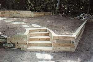 wood retaining wall _LOVE!!!