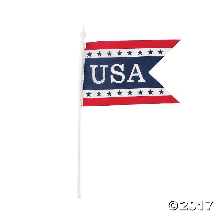 Pennant-Shaped Mini USA Flags - OrientalTrading.com