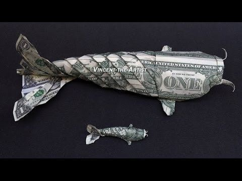 Foot Long Money Origami Koi Fish Dollar Bill Art -…