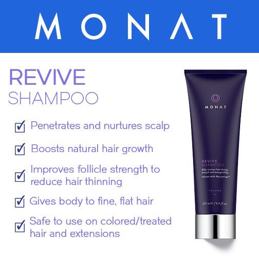 Revive Shampoo is a gentle volumizing cleanser for fine, limp and lifeless hair. It nurtures the scalp while helping boost natural hair growth and follicle strength to reduce hair thinning. www.smaricle.mymonat.com