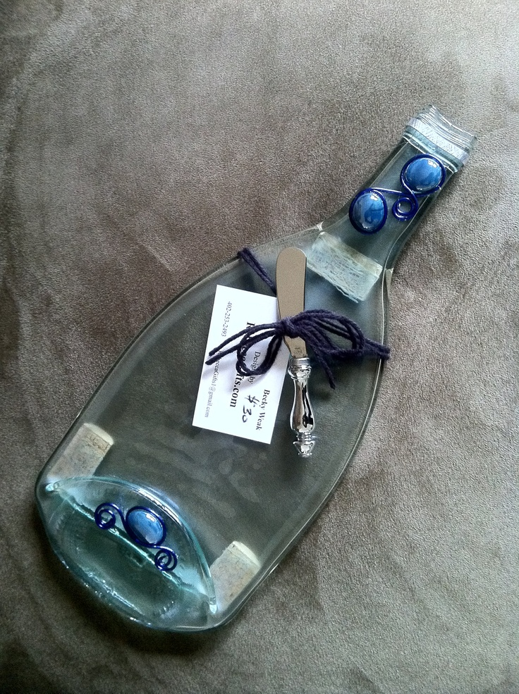 Custom Decorated Slumped Wine Bottles. via Etsy. Great holiday gift for those hard to shop for!!