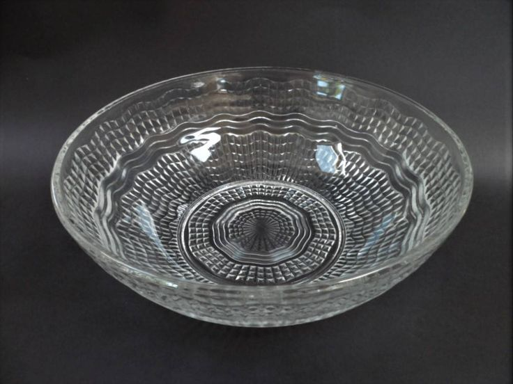Chance Glass Bowl Waverley Clear Serving Bowl Vintage Mid Century Interior Home Decor by BelieveToBeBeautiful on Etsy
