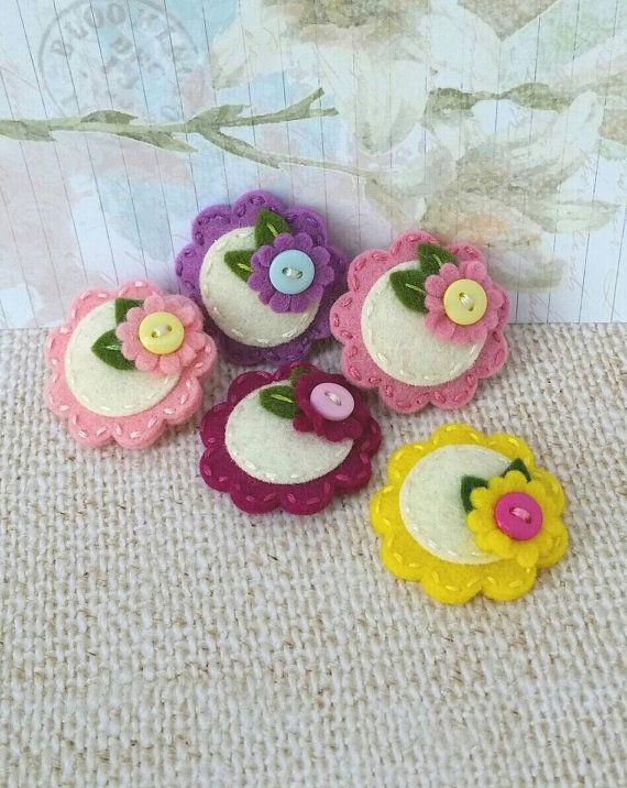 on-sale-pick-three-spring-felt-flower baby snap hair clip