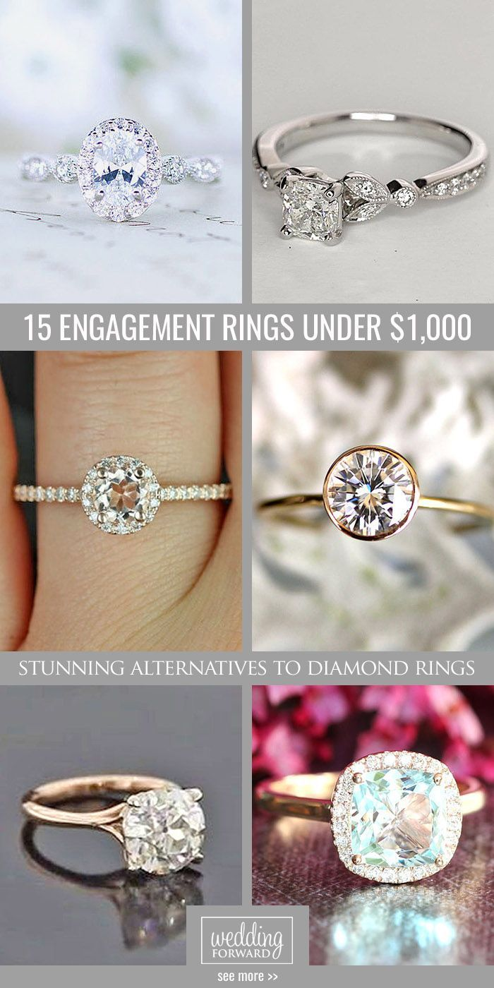 15 Budget-Friendly Engagement Rings Under $1,000 ❤ We gathered collection of cheap engagement rings with different settings, each ring are stunning and unique! See more: http://www.weddingforward.com/cheap-engagement-rings/ #wedding #engagement #rings