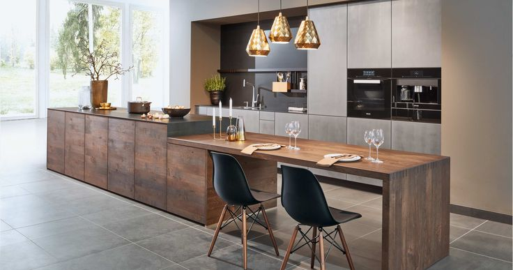 A kitchen with real wood and real metal. Craftsmanship in perfect consistency. The Forum with a velvet matt metal surface Metal-X² aluminium, entirely handmade. In perfect contrast to the warmth of the marsh oak stain on the oak of the Forum 3-layer. Including a zinc plated corner element on the integrated preparation table – at zeyko it's all about detail.