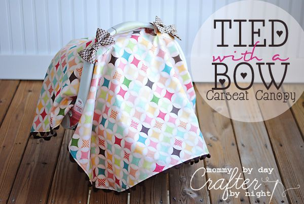Best/easiest car seat canopy instructions I've seen.  Can't wait to make this for Merida today!