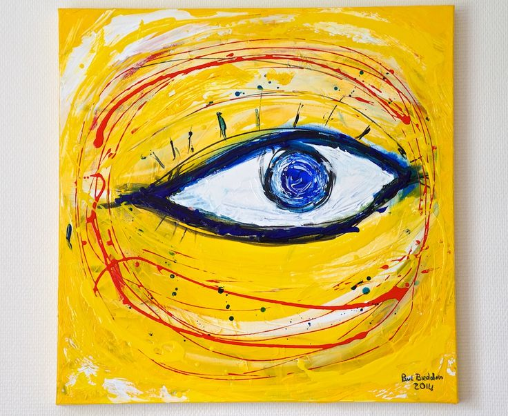 """Oog"" (eye) a painting by Paul Breddels"