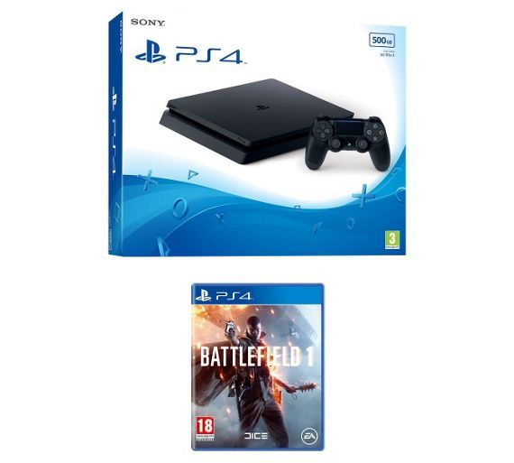 Buy PS4 Slim 500GB Console with Battlefield 1 Pre-order Bundle at Argos.co.uk, visit Argos.co.uk to shop online for PS4 consoles, PS4, Video games and consoles, Technology