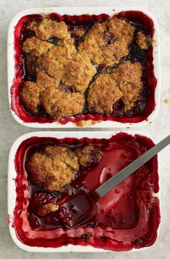 One of my favorite summer desserts –Summer Berry Cobbler from the Skinnytaste Cookbook