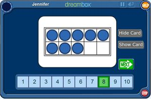 Numbers to Ten on the TenFrame  Using a two by five array, the TenFrame supports the use of five as an anchor for early number sense.
