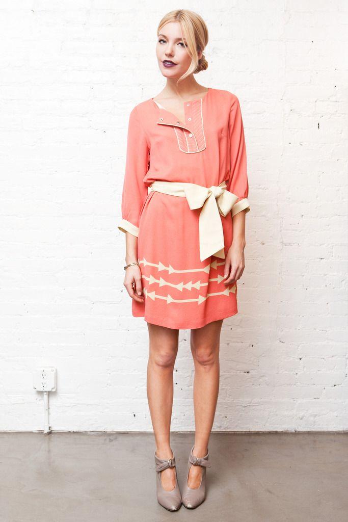 Sugar cane belted dress