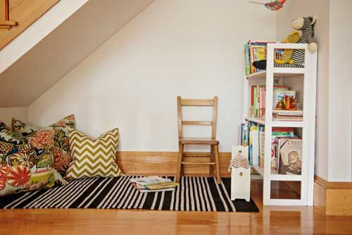 Under stairs reading nook   Living With Kids: Jane Rhodes