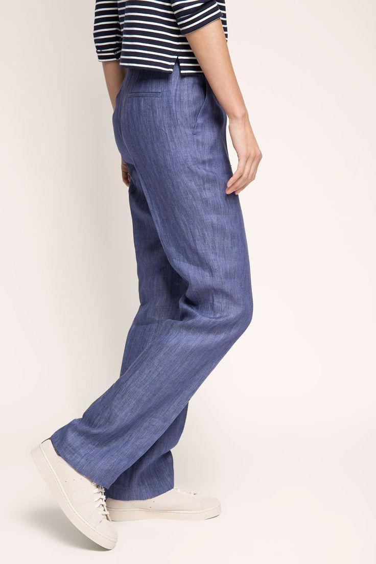 Esprit / Linnen broek met een denim look  69,99