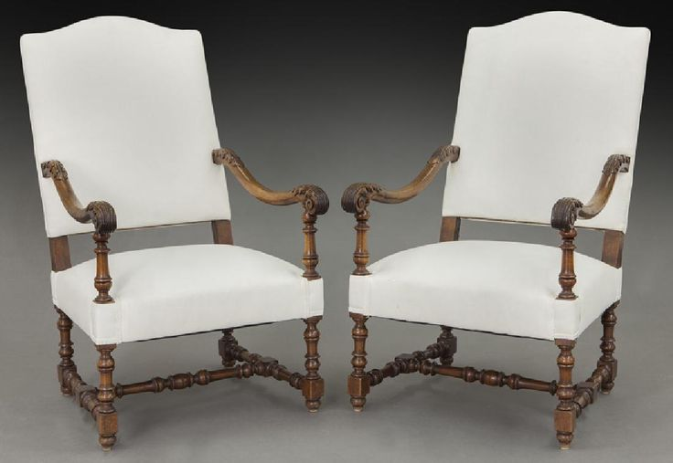 Lot: Pr. French carved armchairs,, Lot Number: 0247, Starting Bid: $50, Auctioneer: Dallas Auction Gallery, Auction: The Philip Maia Collection - Session Two, Date: January 26th, 2017 CST