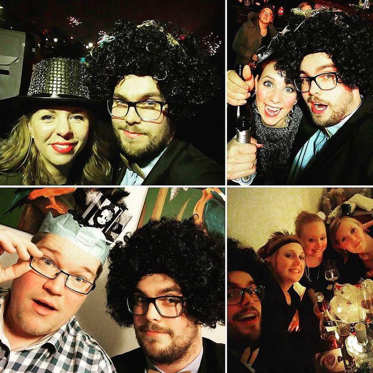 Happy new year  Thanks for a great party!! #NewYear #Party #Drunk #Friends #Love #Fireworks #Light #Night #Hats #Hair #Guys #Girls #NytÅr #Fest #Fuld #Venner #Kærelighed #Fyrværkeri #Nat #Enjoying #Life #2015 #2016 #Selfie