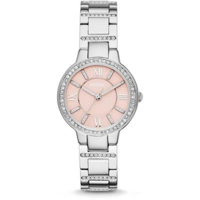 Fossil Virginia Pink Dial Stainless Steel Ladies Watch ES3504 Canada online at SHOP.CA - FSES3504