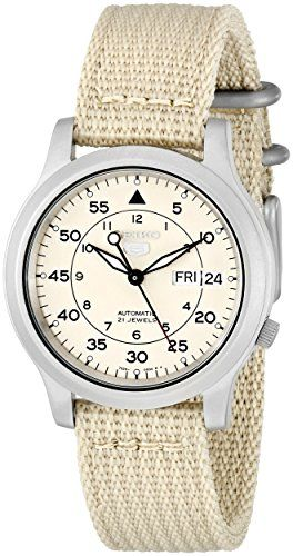 Just arrived Seiko Men's SNK803 Seiko 5 Automatic Watch with Beige Canvas Strap
