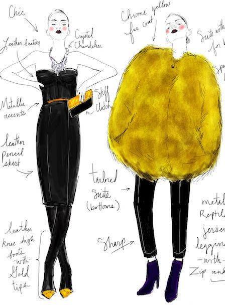 Fashion Sketchbook illustration - developing a collection