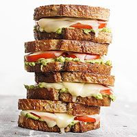 Tomato-Avocado Grilled Cheese Recipe - I love this sandwich! In fact, I had it for lunch today. It is so good.